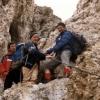 Dolomiten Pisciadu Klettersteig mit dem Alpenverein, 1986