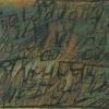 Ohne Titel, Kalliographie,  Öl auf Karton, aus 'Der Mensch', 1996