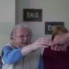 Mutter Fernanda verabschiedet sich von Hubert Pinggera