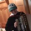 Junger Ziehharmonikaspieler Steinhauser jun.