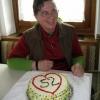 Stefanie, Betreuerin. Mit hausgemachter Geburtstagstorte für Georg