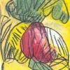 1990, Gartenfrüchte, Öl, Kreide, Kratztechnik, aus Ins Leben gestemmt