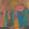 1992, ohne Titel, Wasserfarben, aus Ins Leben gestemmt