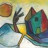 1985, Mischtechnik, aus Verkürzte Landschaft, 2003, Titelbild