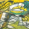 1983, Stift und Ölkreide, 1986, Öl, aus Verkürzte Landschaft, 2003