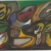 1998, Öl auf Karton, ohne Titel,  aus Vom Augenmass überwältigt