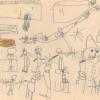 Menschen, Zeichnung Jupident, Schuljahr 1970/71