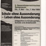 Georg Paulmichl Lesung in Reutte - am 05.05.1989, Lesung, Festsaal, Walter-Schwarzkopf-Haus in Reutte