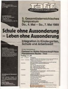 Plakat zur Lesung Georg Paulmichl in Reutte