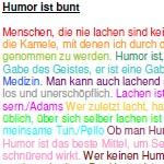Humorvoll Konflikte lösen in der Sozialbegleitung mit erwachsenen Menschen mit Behinderung - Abschlussarbeit von Silvia Petermann, Schule für Sozialbegleitung, Zürich, Oktober 2005