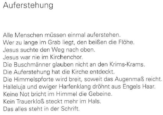 Auferstehung, von Georg Paulmichl