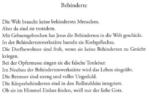 Behinderte, von Georg Paulmichl