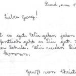 Bildausschnitt aus: Christine an Georg, Korrespondenz. Prad, am 12.11.1967