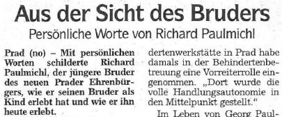 Aus der Sicht des Bruders, Dolomiten, 22.10.2007
