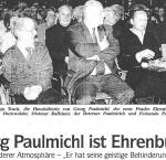 Georg Paulmichl ist Ehrenbürger - Artikel, Dolomiten, 22.10.2007