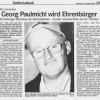 Georg Paulmichl wird Ehrenbürger