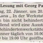 """Georg Paulmichl liest aus """"strammgefegt"""" - am 22.01.1988, Lesung zur Ausstellung, Kulturhaus Lana"""