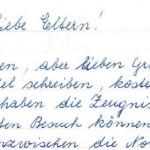 Liebe Eltern, Korrespondenz Sr. Maria Theresia Kraft an Eltern