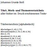 Georg Paulmichl: Titel- Werk- und Themenverzeichnis, Johannes Gruntz-Stoll, 2012 - von Johannes Gruntz-Stoll. Stand April 2012