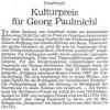 Kulturpreis für Georg Paulmichl