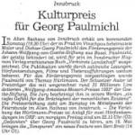 Kulturpreis für Georg Paulmichl - Artikel, Dolomiten, 13.05.1993
