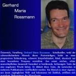 Gerhard Maria Rossmann - Life Award 2003