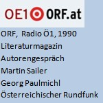 Literaturmagazin, Autorengespräch, Radio - ORF, Radio Ö1, am 23.07.1990