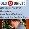 Gedanken, über Georg Paulmichl, Radio