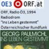 """Radiodrom, Buch der Woche """"Ins Leben gestemmt"""", Radio"""