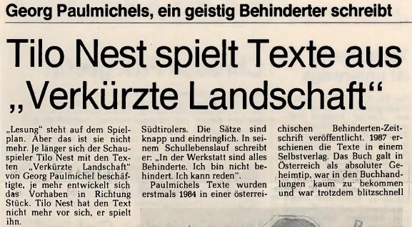 """Ruhr Nachrichten, Tilo Nest spielt aus """"Verkürzte Landschaft"""""""