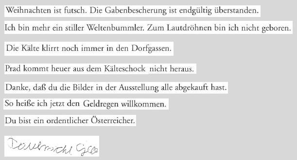 Zitate: Sehr geehrter Schulleo! Von Georg Paulmichl. Aus: 2001, Vom Augenmass überwältigt, Haymonverlag