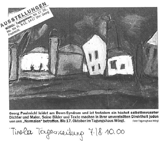 Veranstaltungstipp, Tiroler Tageszeitung