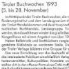 Tiroler Buchwochen 1993