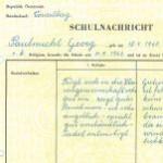 Schulnachricht - Allgemeine Landes-Sonderschule Jupident, Schuljahr 1968/69