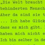 Ich habe Glück gehabt, dass es mich gibt. Petra Afonin, 2003, Bochum - am 01.10.2003, szenische Rezitation, prinz regent theater