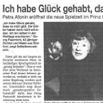 Ich habe Glück gehabt, dass es mich gibt - Artikel, Stadtspiegel, 11.09.2002