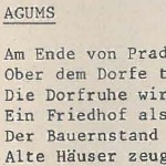 Agums - ein Text von Georg Paulmichl
