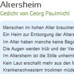 Altersheim - ein Gedicht von Georg Paulmichl