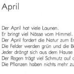 April - ein Gedicht von Georg Paulmichl