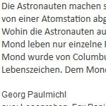 Astronauten - ein Text von Georg Paulmichl