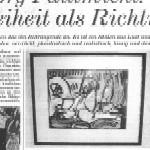 Georg Paulmichl: die Freiheit als Richtung - Artikel, Tageszeitung, 13.05.2003