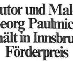 Autor und Maler erhält in Innsbruck Förderpreis - Artikel, Alto Adige, 11.05.1993