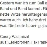 Ball - ein Text von Georg Paulmichl