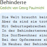 Behinderte - Gedicht von Georg Paulmichl