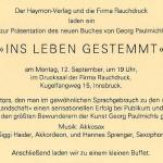 Ins Leben gestemmt, Buchpräsentation - am 12.09.1994, Rauchdruck Innsbruck