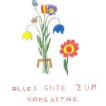 Alles Gute zum Namenstag - Christine an Georg, Korrespondenz nach Jupident, Schuljahr 1967/1968