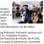 Felix Mitterer und Hannes Thanheiser lesen Georg Paulmichl - am 24.11.2010, Lesung und Konzert, Cinema Paradiso