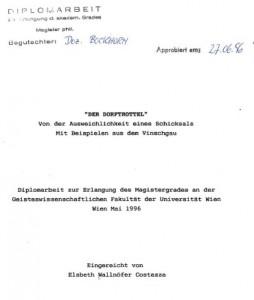 Deckblatt, Der Dorftrottel