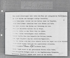 aus Leseproben, Fax Papier 04, Sammlung Familie Paulmichl