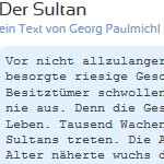 Der Sultan - ein Text von Georg Paulmichl